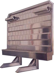 protège cabine (cab shield) avec boîte de rangement en aluminium