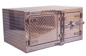coffre à outil en aluminium pour camion - 2 portes