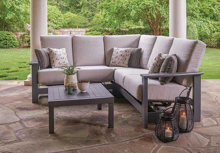 Outdoor furniture, parasols and retractable awnings