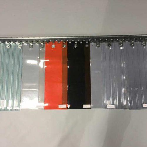 couleurs de PVC disponibles pour les rideaux industriels à lanières
