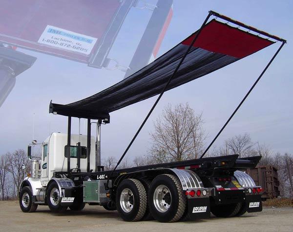 toile de camion de type roll off