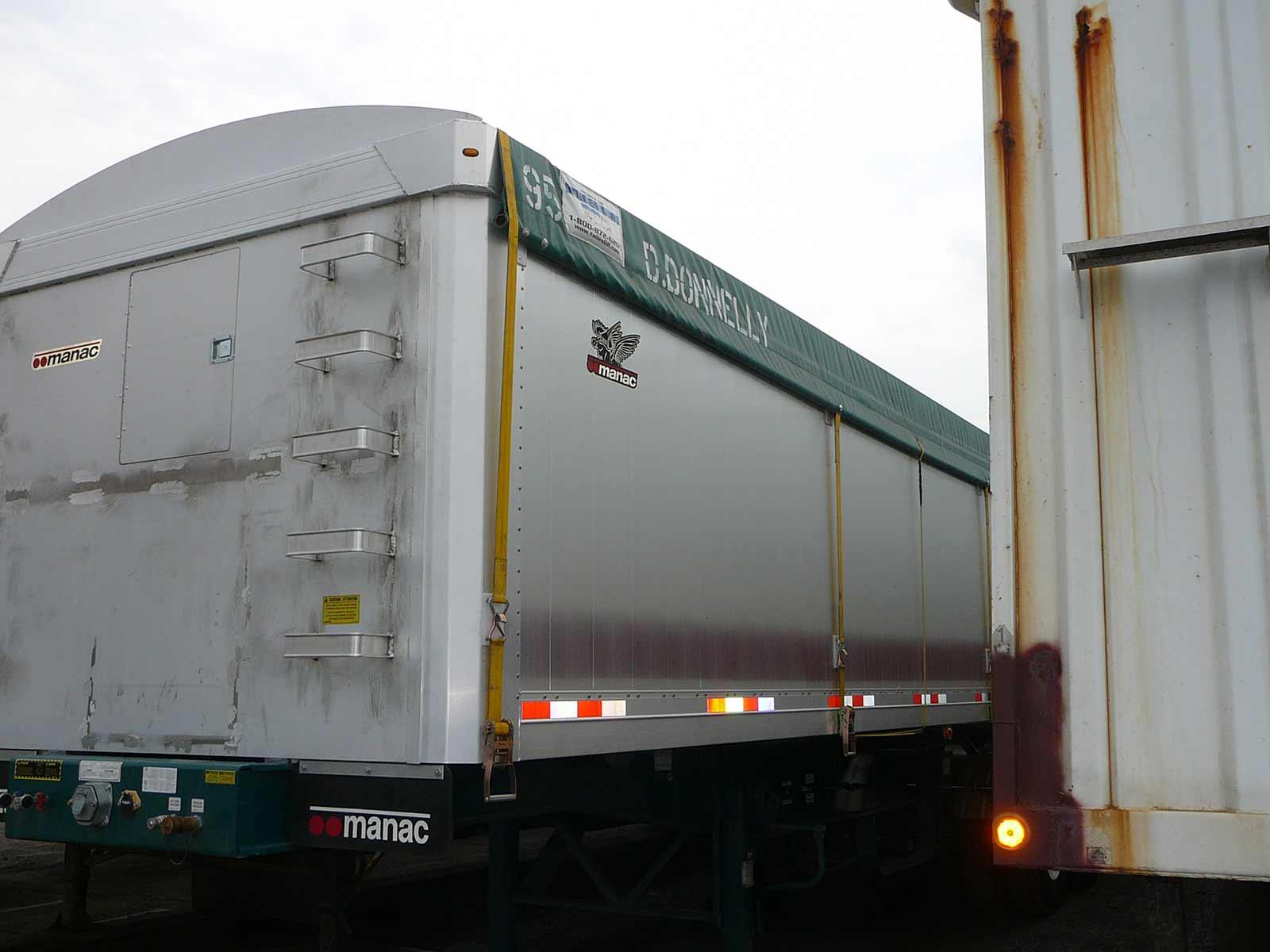 toile pour camion de type side roll